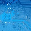 Stock Photo: Blue circuit board