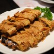 Deep fried bean curd - Stock Photo