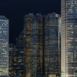 Night scene of business buildings — 图库照片
