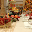 Stock Photo: Christmas dinner set