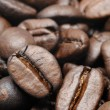 Roasted coffee beans closeup — Stock Photo