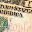 tien dollar bill close-up — Stockfoto #9147171