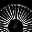 Stock Photo: Jet engine background