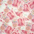 China yuan background — Stock Photo
