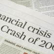 Financial crisis headlines — Stok Fotoğraf #9147496
