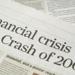 Stock Photo: Financial crisis headlines
