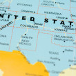 Stock Photo: United States on map