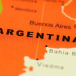 Argentina on map — Stock Photo