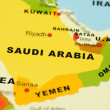 Stock Photo: Saudi Arabia on map