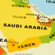 Saudi Arabia on map — Stock Photo