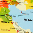 Iran and Iraq on map — Stock Photo