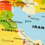 Постер, плакат: Iran and Iraq on map