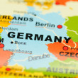 Germany on map — Stock Photo #9147691