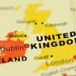 United Kingdom on map — Stock Photo