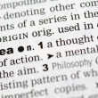 Dictionary definition of idea — Stock Photo