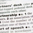Dictionary definition of partnership - Stock Photo