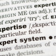 Stock Photo: Dictionary definition of expertise