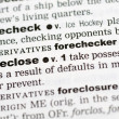 Royalty-Free Stock Photo: Dictionary definition of foreclose