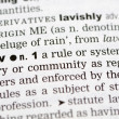 Dictionary definition of law - Foto Stock