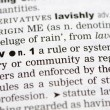 Stock Photo: Dictionary definition of law