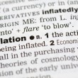 Dictionary definition of inflation — Stock Photo