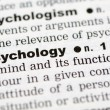 Stock Photo: Dictionary definition of psychology