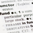 Royalty-Free Stock Photo: Dictionary definition of fund