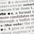 Dictionary definition of vote — Stock Photo