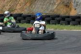 Go kart racing — Stock Photo