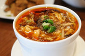 Hot and sour soup — Stock Photo