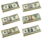 Pile di noi banconote da un dollaro — Foto Stock