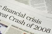 Financial crisis headlines — Stock Photo