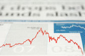 Gráfico índice cai em 2008 — Foto Stock