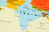 India on map — Stock Photo