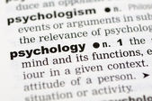 Dictionary definition of psychology — Stock Photo
