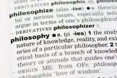 Dictionary definition of philosophy — Stock Photo