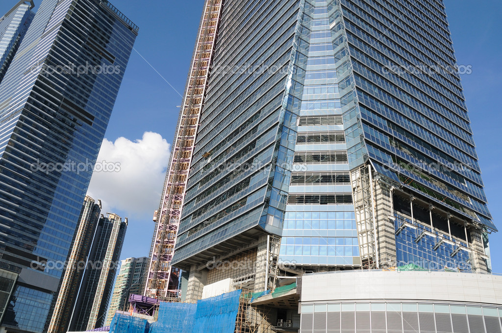 Construction site of business building in Hong Kong — Stock Photo #9146072