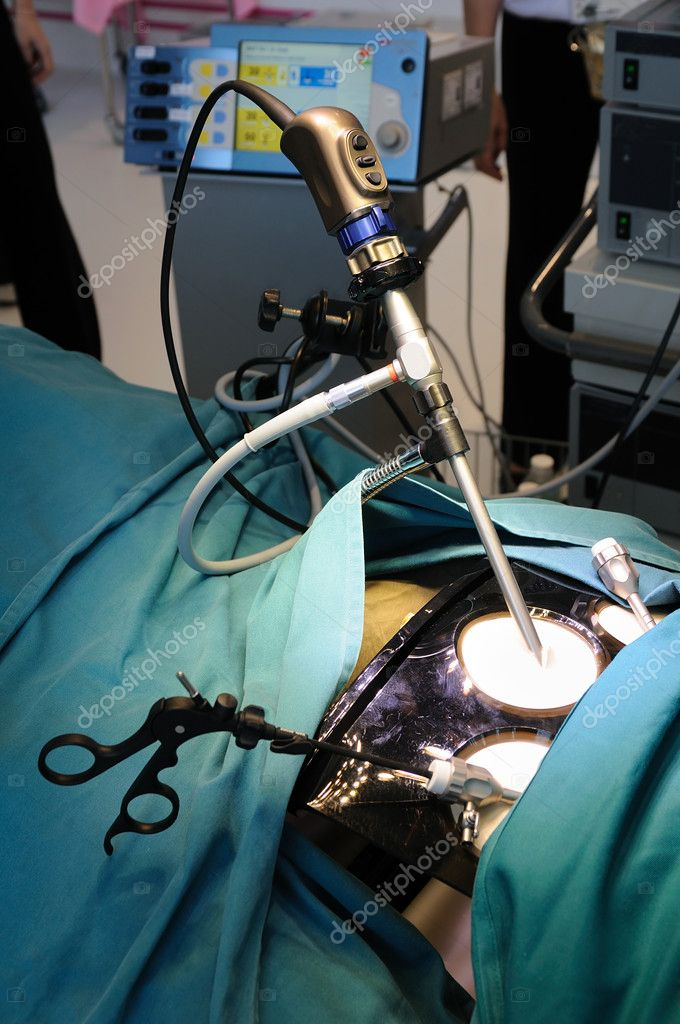 Demonstration of minimally invasive surgery — Stockfoto #9146217