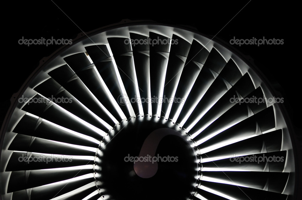 Abstract background of a jet engine — Stock Photo #9147302