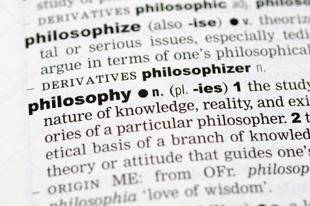 A close up of the word philosophy from a dictionary — Stock Photo #9147770