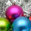 Colorful christmas balls — Foto Stock