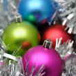 Colorful christmas balls — Stockfoto