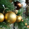 Christmas balls on tree — Stock fotografie
