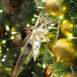 Christmas star and ornaments — Photo