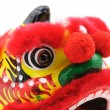 Chinese dancing lion head — Stock Photo