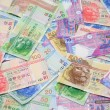 Hong Kong dollar bills background — Stockfoto