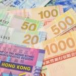 Hong Kong dollar bills closeup — Stock Photo