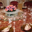 Chinese wedding table set — Stock Photo