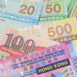 hong kong dollar bills closeup — Stock Photo