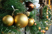 Christmas balls on tree — Stock Photo